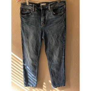 Free People High Rise Cropped Jeans size 29